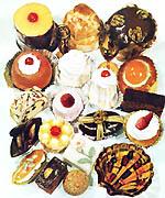 「日本洋菓子史」が発行された1960年(昭和35年)当時の洋菓子。